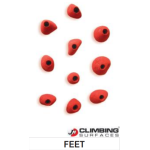 JM Climbing Surfaces Feet Climbing Holds (10 pcs)