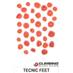 JM Climbing Surfaces Tecnic Feet Climbing Holds (36 pcs)