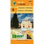 Map Ιreraklio- Rethymno (1:100.000) / Publications Anavasi
