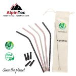 AlpinTec Eco Reusable Straws Bend 6mm