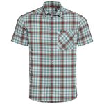 Odlo Nikko Check Shirt Snow White Arctic Chili Oil Check Men's
