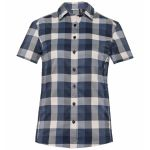 Odlo Kumano Check Blouse Diving Navy Crystal Gray Blue Women's