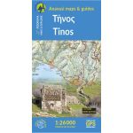 Map Tinos (1:26.000) Published by Anavasi