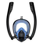 Amphibea Twobas Mask With Double Snorkel Black-Blue