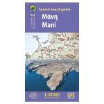 Map Mani (1:30.000) Published by Anavasi