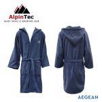AlpinTec Bathrobe Microfiber Kids Aegean Navy