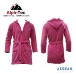 AlpinTec Bathrobe Microfiber Kids Aegean Fuchsia
