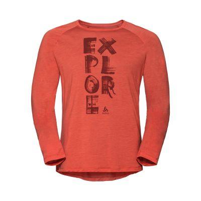 Odlo BL Top Crew neck l/s Concord Paprika Explore Print Men's